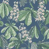 2827-7201 Chestnut Blossom Slate Floral Wallpaper