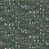 2827-7214 Strawberry Field Multicolor Garden Wallpaper