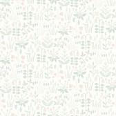 2827-7217 Strawberry Field Cream Garden Wallpaper