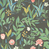 2827-7219 Spring Garden Multicolor Botanical Wallpaper