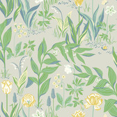 2827-7220 Spring Garden Green Botanical Wallpaper