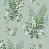 2827-7221 Foxglove Sage Botanical Wallpaper
