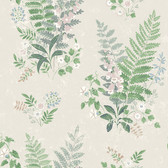 2827-7222 Foxglove Multicolor Botanical Wallpaper