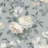 2827-7224 Peony Grey Floral Wallpaper
