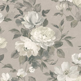 2827-7225 Peony Light Grey Floral Wallpaper
