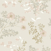 2827-7231 Prairie Rose Blush Floral Wallpaper