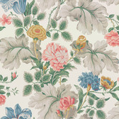 2827-7235 Carnation Garden Multicolor Floral Wallpaper