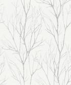 2979-37260-2 Diani White Metallic Tree Wallpaper
