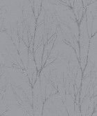 2979-37260-1 Diani Pewter Metallic Tree Wallpaper