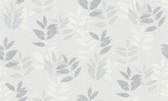 2979-37261-4 Napali Light Grey Leaf Wallpaper