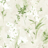 2814-21628 Turner Cream Watercolor Floral Wallpaper