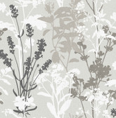 2814-24571 Pippin Grey Wild Flowers Wallpaper