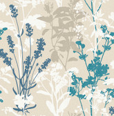 2814-24572 Pippin Blue Wild Flowers Wallpaper