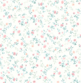 2814-24965 Catlett Light Pink  Floral Toss Wallpaper