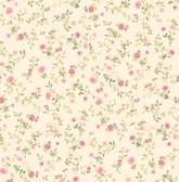 2814-24966 Catlett Pink Floral Toss Wallpaper