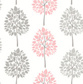 2814-24968 Saar Pink Tree Wallpaper