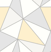 2814-24979 Apex Yellow Geometric Wallpaper