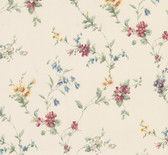 2814-25190 Marcus Cream Floral Trail Wallpaper