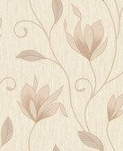 2814-M0868 Gallagher Champagne Floral Trail Wallpaper