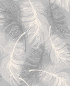 2814-M0923 Hurston Grey Feather Wallpaper