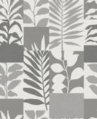 2814-M1383 Hammons Silver Block Botanical Wallpaper