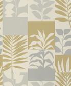 2814-M1384 Hammons Gold Block Botanical Wallpaper