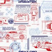 DI0915 Disney and Pixar Cars Schematic Wallpaper