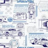 DI0916 Disney and Pixar Cars Schematic Wallpaper