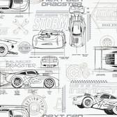 DI0917 Disney and Pixar Cars Schematic Wallpaper