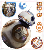 RMK3147GM Star Wars Episode V11 Bb-8 Giant Wall Decals White/Off Whites
