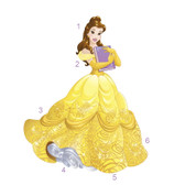 RMK3206GM Sparkling Disney Belle Giant Wall Decal (Glitter) Yellows