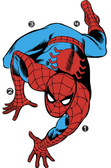RMK3253GM Classic Spiderman Comic Giant Wall Decals Reds