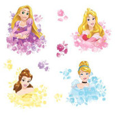RMK3623SCS Disney Princess Floral Wall Decal Pinks