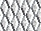 PSW1116RL Statuary Diamond Inlay Peel and Stick Wallpaper