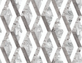 PSW1117RL Statuary Diamond Inlay Peel and Stick Wallpaper