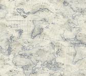 PSW1132RL Coastal Map Peel and Stick Wallpaper