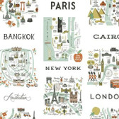 PSW1195RL City Maps Peel and Stick Wallpaper