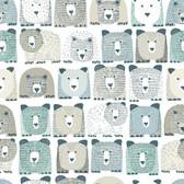 PSW1185RL Bears Sidewall Peel and Stick Wallpaper