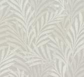 HC7500 Tea Leaves Stripe Wallpaper - Lt Grey