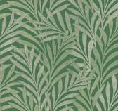 HC7501 Tea Leaves Stripe Wallpaper - Green