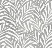 HC7502 Tea Leaves Stripe Wallpaper - Cream/Black