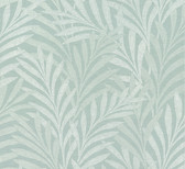 HC7504 Tea Leaves Stripe Wallpaper - Blue