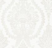 HC7588 Heritage Damask Wallpaper - White/Beige
