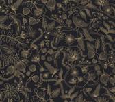 PSW1310RL Aviary Peel and Stick Wallpaper - Black/Gold