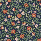 PSW1314RL Primrose Peel and Stick Wallpaper - Rose/Navy