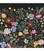PSW1333M Strawberry Fields Mural Peel and Stick Wallpaper - Black/Green