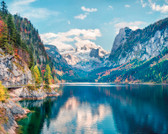 WALS0382 - Snow Mountain With Lake Wall Mural