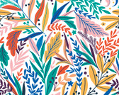 WALS0389 - Tropical Patterned Leaves Wall Mural