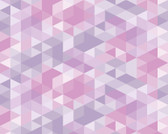 WALS0406 - Pink Pastel Triangles Wall Mural