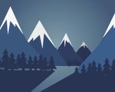 WALS0410 - Snow Mountain Wall Mural
